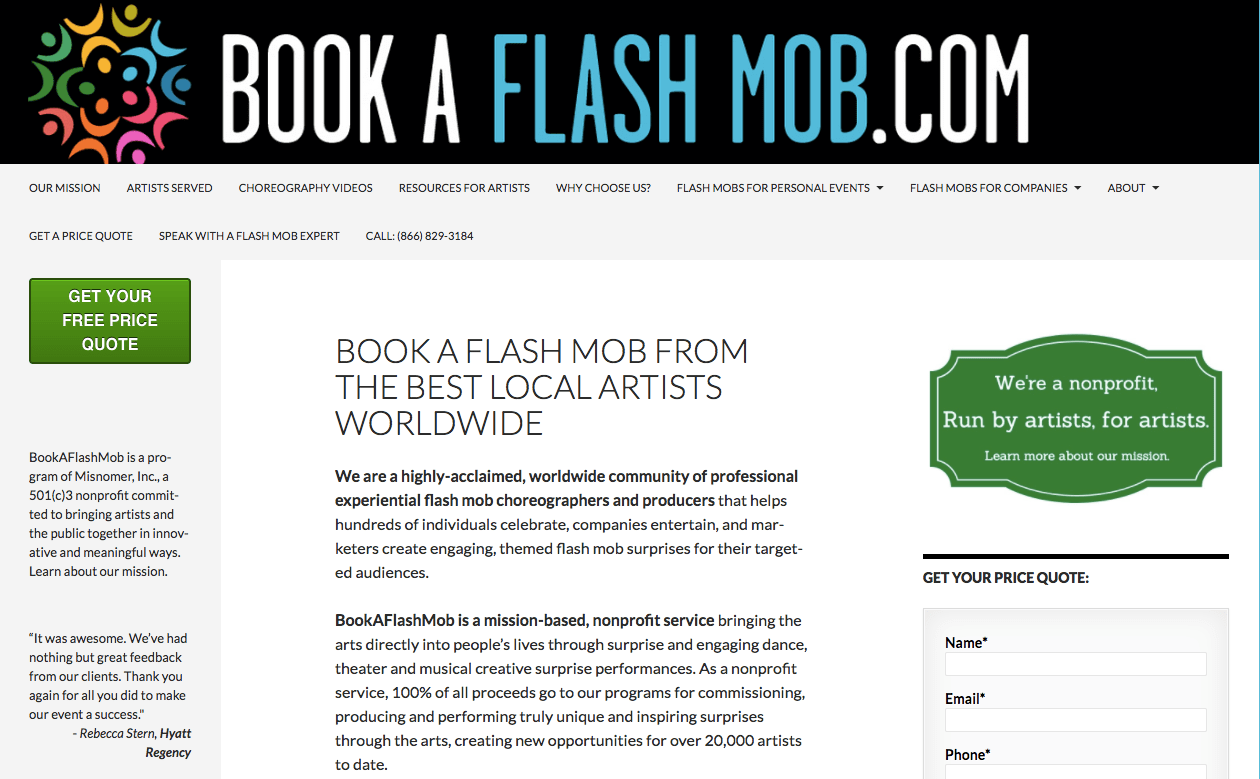 Book A Flash Mob For Hire Worldwide BookAFlashMob com
