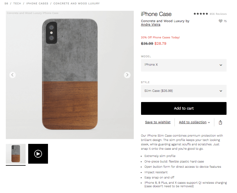Concrete and Wood Luxury iPhone Case by andrevieira Society6