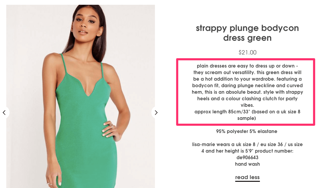 Strappy Plunge Bodycon Dress Green Missguided