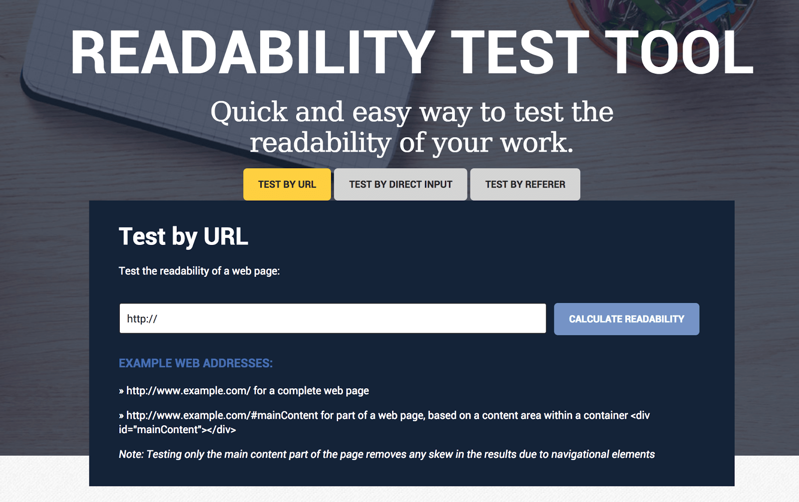 test tool readable
