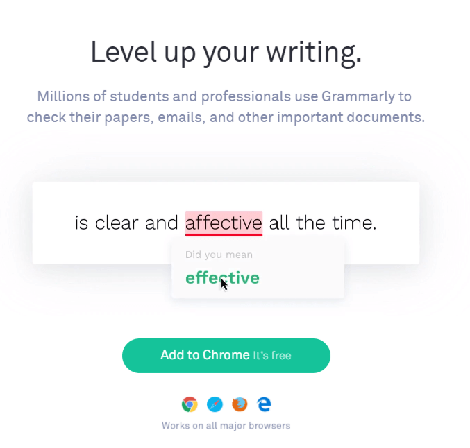 level up your writing chrome