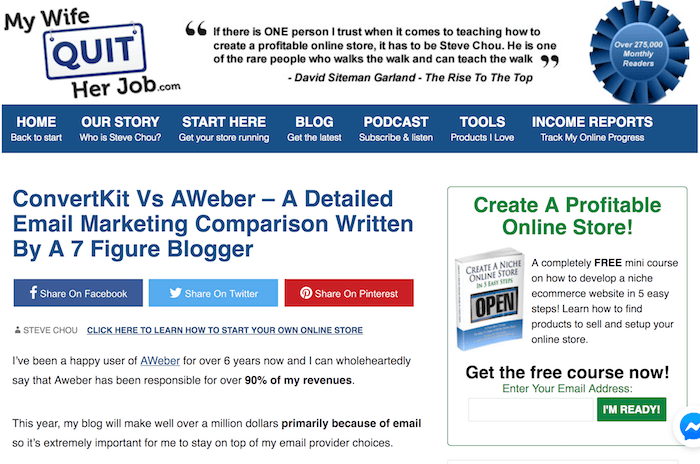 detailed email marketing comparison