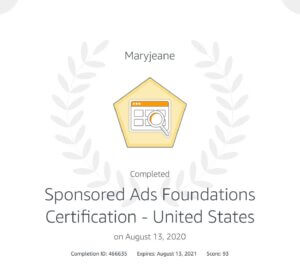 Amazon Sponsored Ads Certification