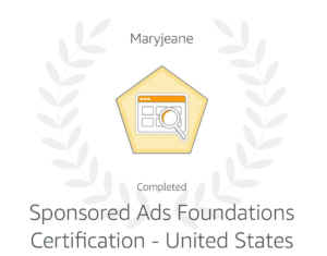 Amazon Sponsored Advertising Certification