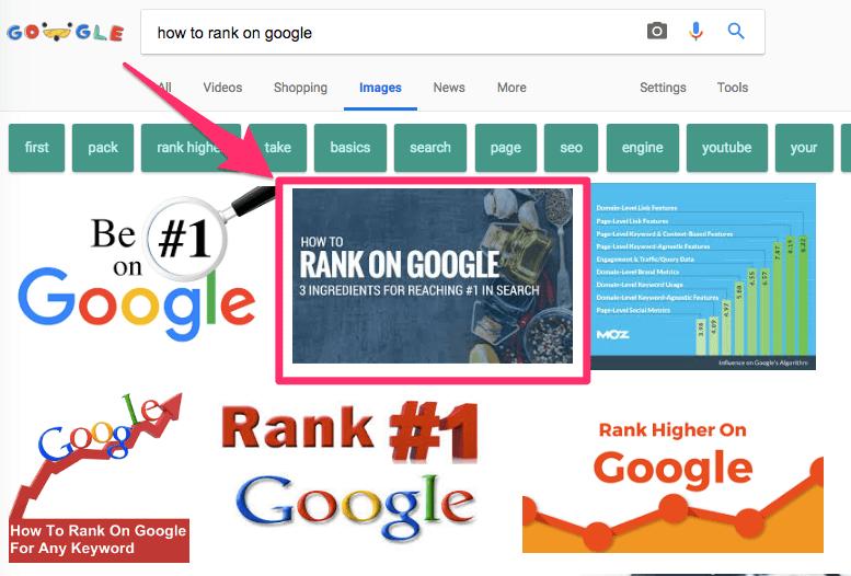 ranking to Google