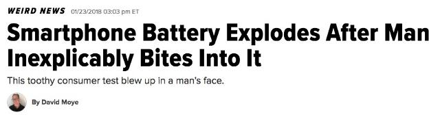 weird news title