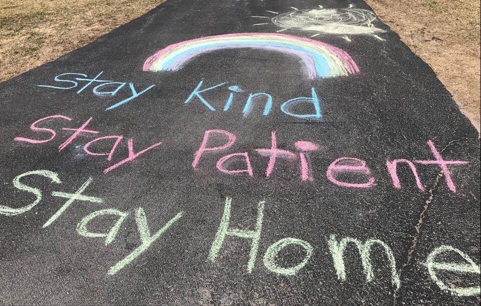 chalk empathetic messages