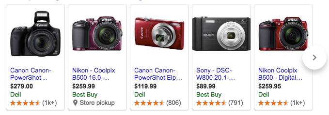camera images search results