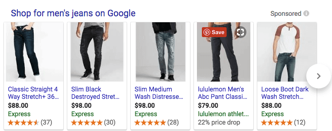 shop for men's jeans