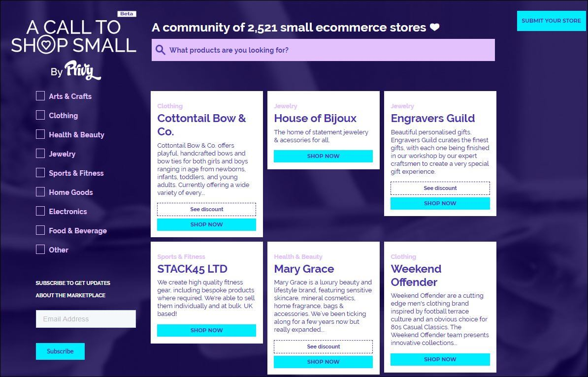 community of e-commerce stores