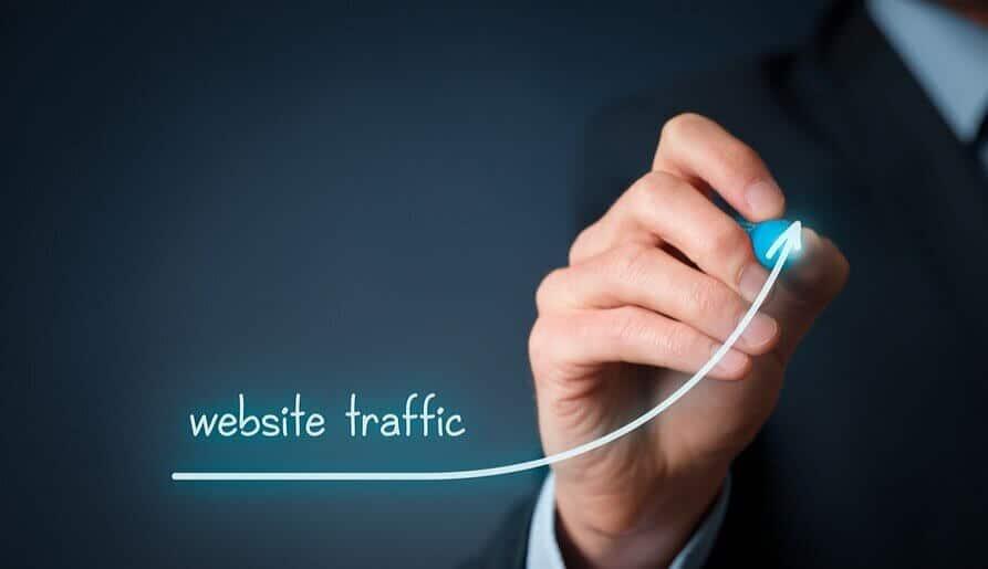 web traffic led graph