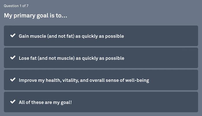 web content goal