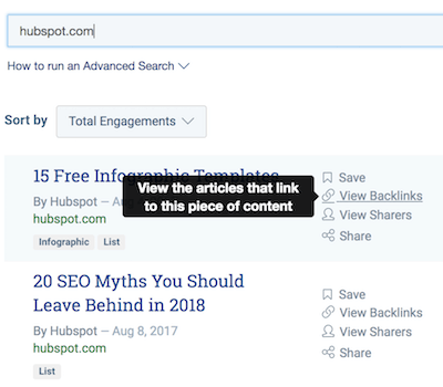 viewing backlinks