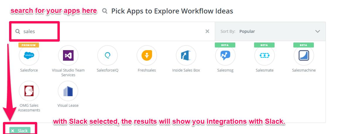 sales integration with slack