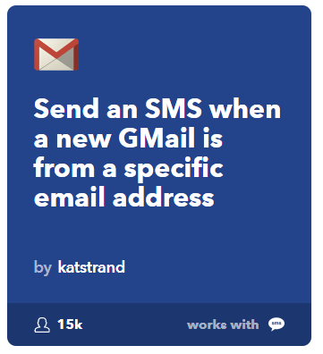 sending SMS to New Gmail