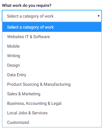Selecting Category