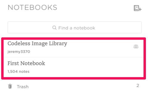 notebook application