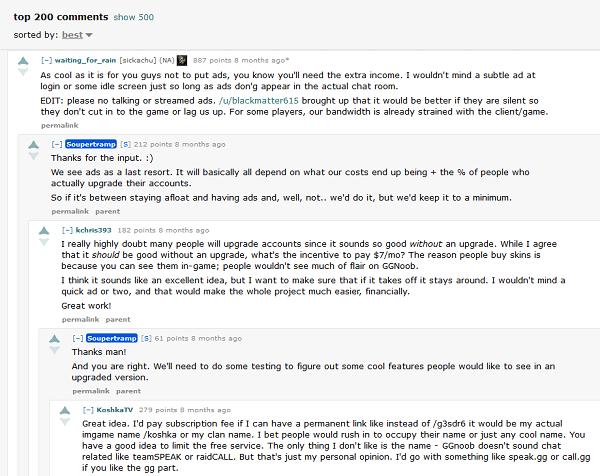 one user took advantageof immediately plenty of comments on the thread of Reddit