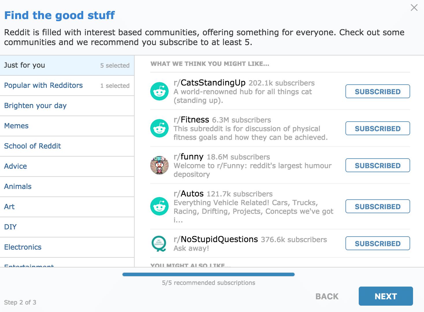 finding a good stuff on Reddit