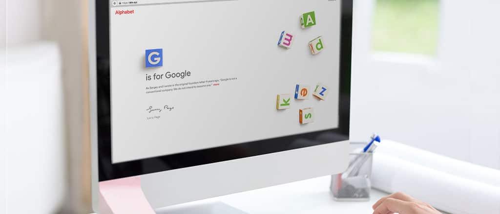 computer screen showing Alphabet