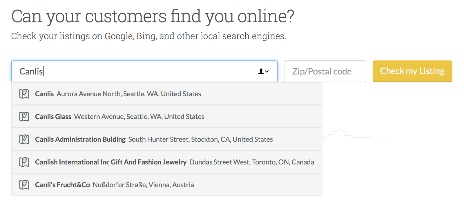 find you online by customers SEO