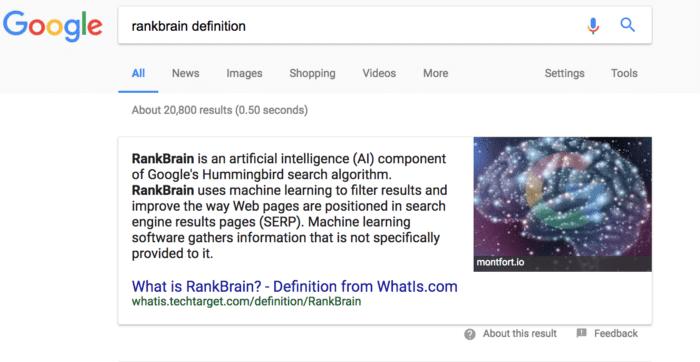 rankbrain definition