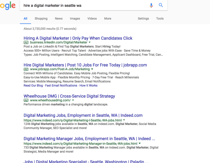 hire digital marketer with address