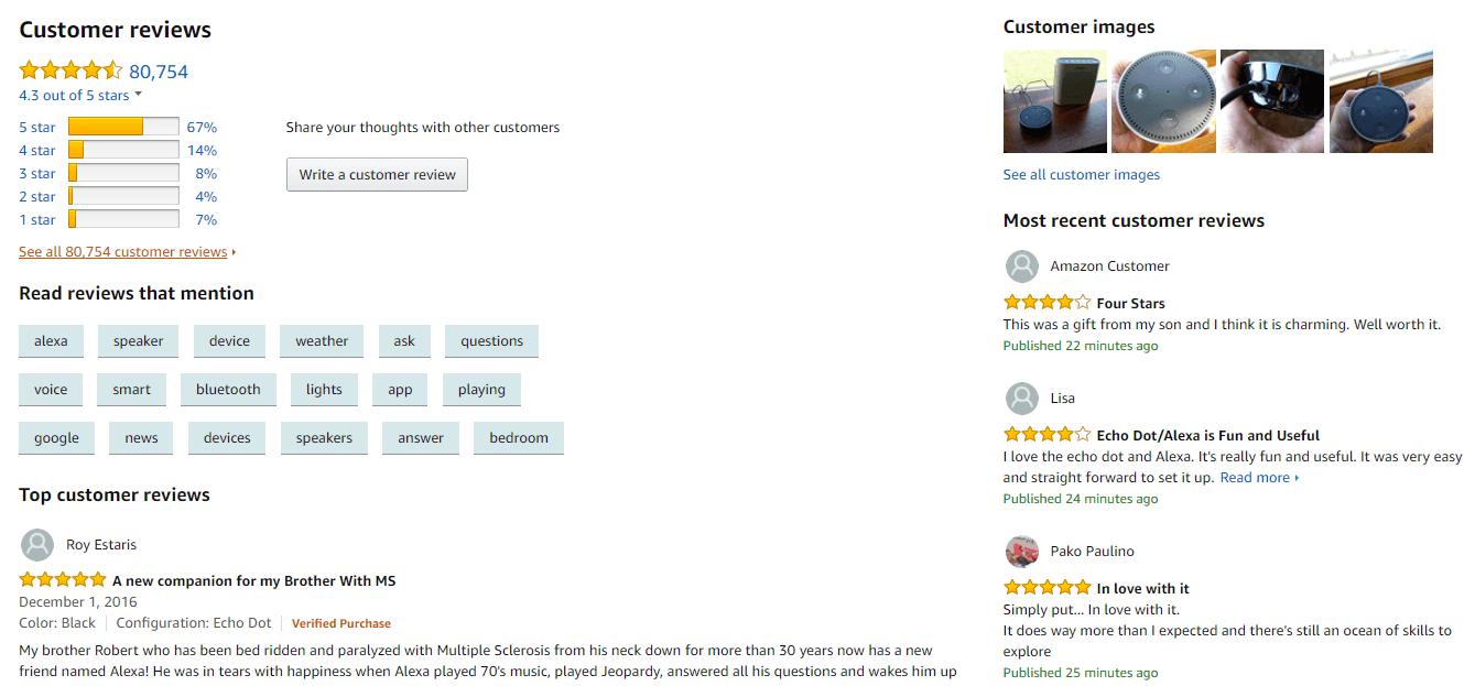 SEO customer reviews
